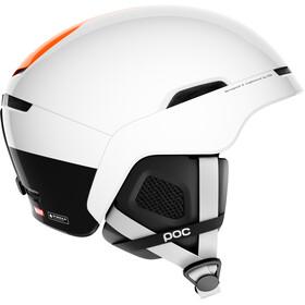 POC Obex BC SPIN Casco, hydrogen white/fluorescent orange AVIP